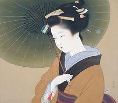 上村松園 Syouen Uemura『青眉』(1934)吉野石膏株式会社蔵(天童市美術館寄託)