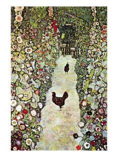 Gustave klimt - Chemin de jardin aux poulettes