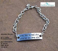 """Affirmation """"She Believed"""" Bracelet - Sedalia Designs"""