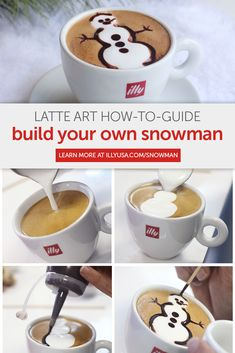 Do you want to build a (latte art) snowman? As temperatures dip and snow approaches, warm your heart with this easy step-by-step guide by illy's Master Barista.