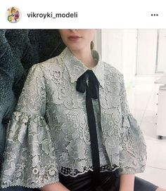 Blouse design idea and inspiration 019 fashion Hijab Fashion, Fashion Dresses, Fashion News, Fashion Trends, Lace Dress, Dress Up, Mode Top, Magnolia Pearl, Fashion Details