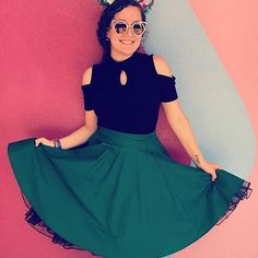 I've been waiting to repost this picture of @iwasnttolkientoyou until I restocked this forest green skirt, but I jut couldn't wait any longer! It's such a beautiful picture! I love her ears and the top she paired with the skirt is perfect💚. The forest green skirt will restock at the end of the month, if you'd like to be tagged when it does, leave a 🤚🏻 in the comments below! Thanks for the tag @iwasnttolkientoyou, I love this picture so much! #damseldesigned #disneybound #epcot…