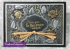 Card made using Crafter's Companion 3D Embossing Folder - English Rose. Designed by Linda Fitzsimmons #crafterscompanion