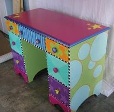 Hand painted desk...turn something no one wants into a treasure.
