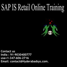 "Hyderaabadsys gives the best Software's preparation to different Computer IT courses through Webex, Gotomeeting. We are giving SAP GRC Training focused around particular needs of the learners particularly we will give inventive balanced Classes which has extraordinary open doors in the present IT advertise.  Chrompet Online gives constant and situation centered sap IS-Retail  <a href=""http://hyderabadsys.com/sap-is-retail-online-training/""> SAP IS Retail Online Training </a>"