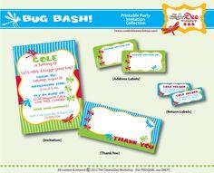 Bug Bash  DIY Printable Birthday Party by CreativiDeeWorkshop, $29.00