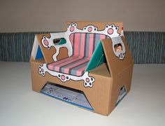 child's chair made from pampers box, too cute!