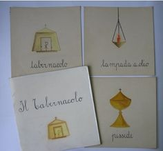 From Sofia Cavalletti's atrium on Via Degli Orsinin in Rome, Italy comes these beautiful Altar II nomenclature packet cards!