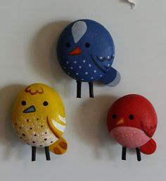 painted rocks - birds - bjl