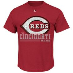 Cincinnati Reds 6th Inning Tee by Majestic.  Screen print team design on front.  100% cotton.