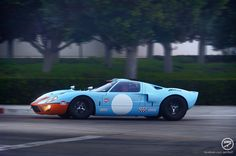New replicas of the famous Ford GT40 MkII A that finished first, second, and third overall at the Le Mans 24 Hour Race in 1966 built by Superformance.