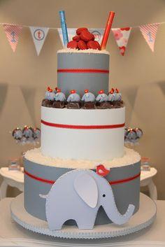 Luiza de Vestido: Festa: Elefantinho para gêmeos