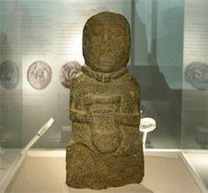 ARCHAEOLOGY - Lyre de Paule (Crwth).... Statue de barde datant de La Tène, découverte lors de fouilles de la forteresse de Paule. by mikescottnz-away for a momth, via Flickr