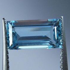 1.7 Carat Natural Untreated Blue Aquamarine 10.1x5.5x4 Rectangle Cut Stone   #AquamarineTraders