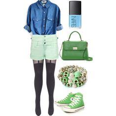 """I Like Green."" by hanajmorris on Polyvore"