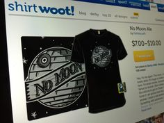 """No Moon Ale"" took 3rd place at Shirt.Woot! My eternal gratitude to everyone who supported it. ❤️  http://shirt.woot.com/offers/no-moon-ale  #starwars #nomoon #deathstar #bluemoon #beer #ale #woodcut #art #design"
