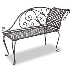 Details about Metal Garden Chaise Lounge Antique Brown Patio.- Details about Metal Garden Chaise Lounge Antique Brown Patio Chairs Outdoor Backrest Seats - Iron Furniture, Bench Furniture, Chair Bench, Garden Furniture, Outdoor Furniture, Bench Seat, Rustic Furniture, Furniture Sets, Chaise Lounges