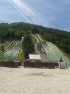 Ski jump Planica On the edge of the Julian Alps in Slovenia there is a ski jump in the village Planica. It takes place for one race at the ski jumping World Cup competition. Follow for follow, pin for pin!