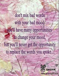 Bad mood with words
