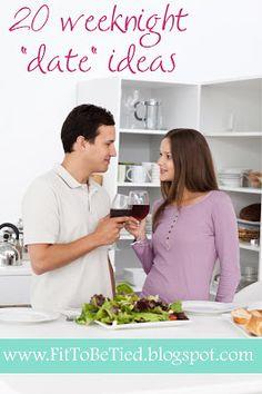 Fit to Be Tied: Weeknight Date Ideas (at home!) #DateNightIdeas #DateNight