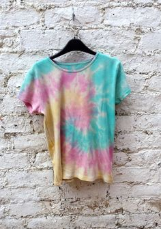 Thermal Tshirt Rainbow Tie Dye size 12 Ladies by AbiDashery