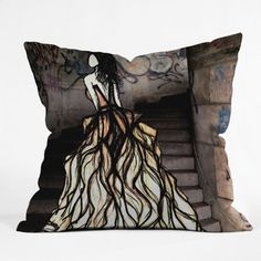 DENY Designs Amy Smith Escape Throw Pillow, 16-Inch by 16-Inch DENY Designs