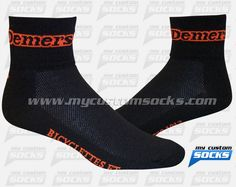 Socks designed by My Custom Socks for Demers Bicyclettes Et Skis De Fond in Quebec, Canada. Cycling socks made with Coolmax fabric. #Cycling custom socks - free quote! ////// Calcetas diseñadas por My Custom Socks para Demers Bicyclettes Et Skis De Fond en Quebec, Canada. Calcetas para Ciclismo hechas con tela Coolmax. #Ciclismo calcetas personalizadas - cotización gratis! www.mycustomsocks.com