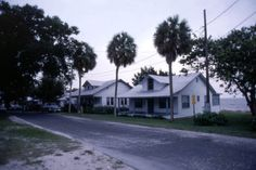 Florida Memory - View of homes on 1st Street in Cedar Key, Florida - Photographed in August 1985