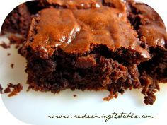 Feasting on Brownies — Redeeming the Table Grain-free, dairy-free, refined sugar-free