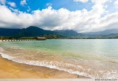 Hanalei - Pier in the background - the kids loved jumping off the pier last summer