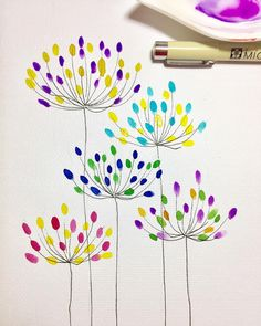 Doodle art 465348573997094006 - Did not find time to paint today so these quick doodles for the entry. These remind me of agapanthus flowers.… Source by superdominette Watercolor Cards, Watercolor Flowers, Watercolor Paintings, Drawing Flowers, Painting Flowers, Flower Drawing Tutorials, Abstract Watercolor Art, Easy Watercolor, Painting Art