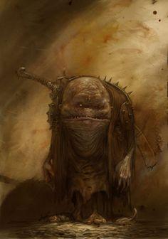 Artist: Adrian Smith. under city deep cave creature humanoid