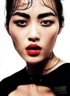 #LiuWen looking stunning. brows, eyes, lips, cheeks, everything