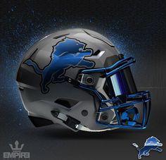 Detroit Lions Concept Design football helmet