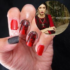 """My Manicure: La Dolce Vita  La dolce vita, painting my nails,  Manicured red, draped in black veils,  Hidden behind the delicate lace, Lies a bold red,…"""