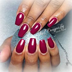 wine colored nails