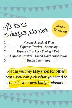 You will receive 1 printable PDF file with 12 pages. You can print the files as many times as you want. (DIGITAL DOWNLOAD ONLY. NO PHYSICAL PRODUCT WILL BE MAILED.)#budget #budgeting #debtfreecommunity #money #financialfreedom #debtfree #debtfreejourney #personalfinance #finance #daveramsey #debt #frugal #savings #frugalliving #savingmoney #savemoney Monthly Budget, Budget Planner, Spending Tracker, Perfect Money, Planner Sheets, Expense Tracker, Pay By Credit Card, Financial Planning, Debt