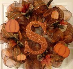 Fall deco mesh wreath Facebook: weeks wreaths