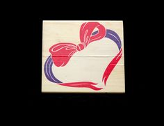LARGE Heart Wreath Rubber Stamp | Valentine's Day | Wedding Cards | Wedding Scrapbook | Rubber Stampede | 1997 Posh Presents by ClassicEndearments on Etsy