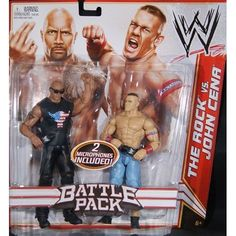 Amazon.com: THE ROCK & JOHN CENA - WWE BATTLE PACKS 15 WWE TOY WRESTLING ACTION FIGURE 2-PACKS: Toys & Games