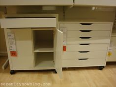 home office/craft room supplies | IKEA+Organization+for+Office+Craft+Supply+Organization+Serenity+Now ...