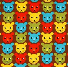 brown fabric with colourful tigers by Robert Kaufman @modes4u