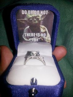 Star Wars Wedding proposal...I'd kiss you on the spot and treasure the box for forever! Screw the ring!!!!!