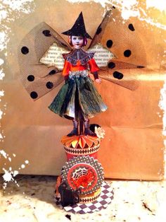 Artful Curiosities - little Halloween spoolie fairy