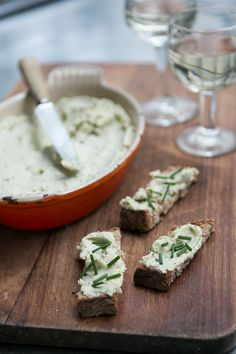 Fromage forte recipe - great idea to use up leftover party cheese....