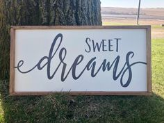 Sweet Dreams Large Wood Sign