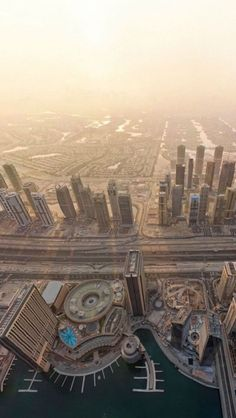 bird's eye view, Dubai, United Arab Emirates... Wish list destination