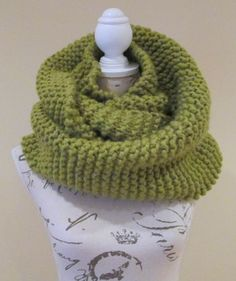 Lime Green Cowl Infinity Scarf Snood Winter by AwfyBrawJewellery