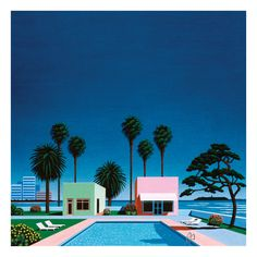 Pacific Breeze: Japanese City Pop, AOR and Boogie Various Artists Vinyl Pacific Breeze documents Japan's blast into the stratosphere. Vaporwave, Hiroshi Sato, Pleasure Point, Pop Albums, Light Music, Japanese Artists, Illustrations, Best Cities, Various Artists