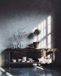 Our Berlin studio. industrial style furniture - loft with vintage elements